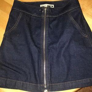 NWOT Topshop MOTO zip up skirt size 2